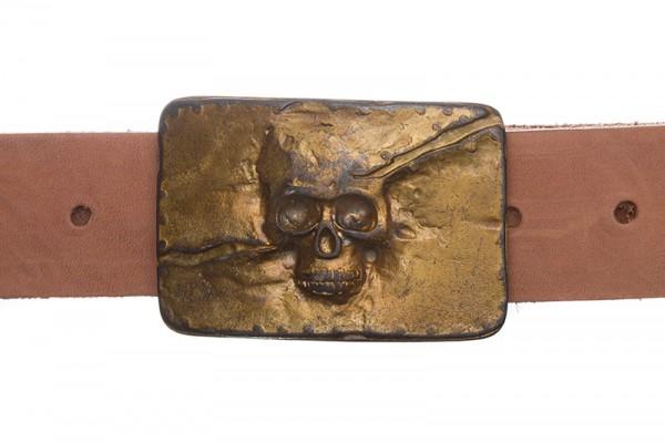 Deadman, 4cm, vintage-goldfarbene Piratenschließe