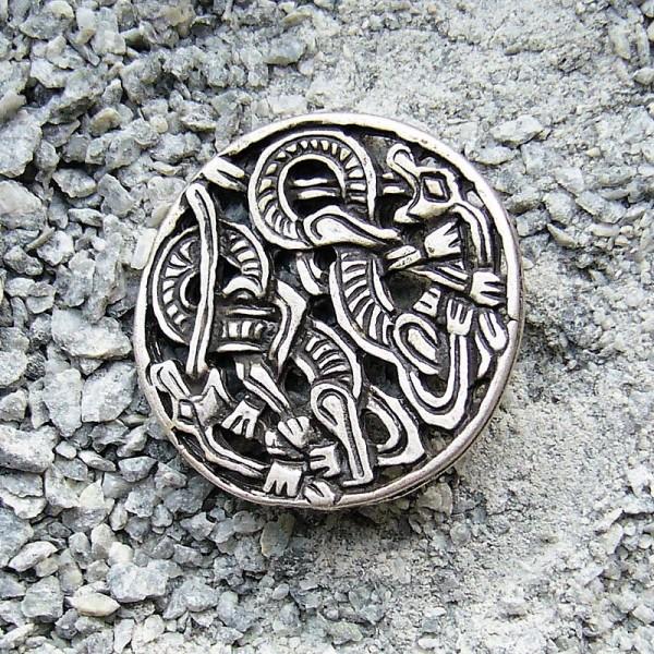 N-125-1 celtic dragons, Beschlag silberfarben