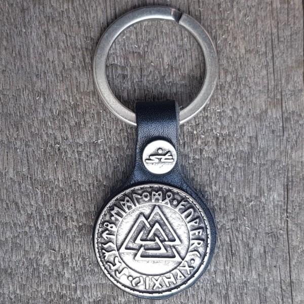 Schlüsselanhänger VALKNUT - WOTANSKNOTEN, silberfarben