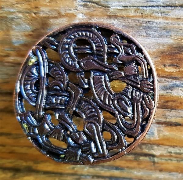 celtic dragons, Beschlag kupferfarben