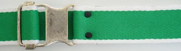 Stoffgürtel , Ringschließe, gemustert grün