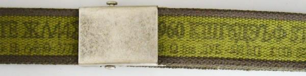 Stoffgürtel Koppel, gemustert, oliv