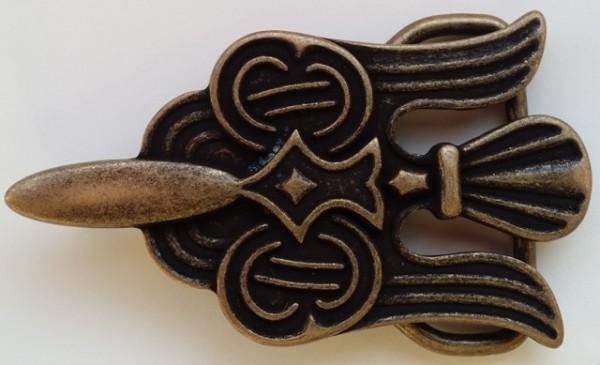 Keltischer Adler - Schließe, 4cm, altmessingfarben