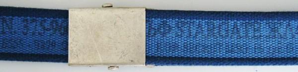 Stoffgürtel Koppel, gemustert, blau