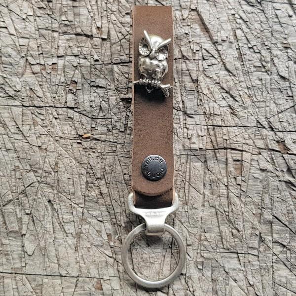 Schlüsselanhänger SLING, Eule, silber