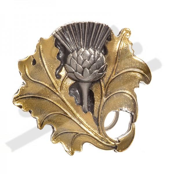schottische Silberdistel - SILVER THISTLE - Zinnschließe 4cm,