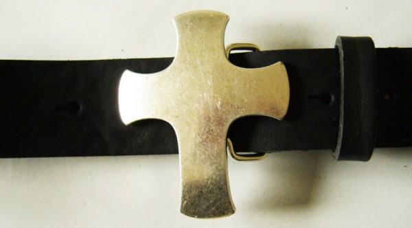 Croche, 4cm, silberne Kreuz-Schließe