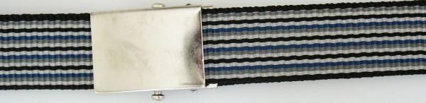 Stoffgürtel Koppel, gemustert, marine/grau