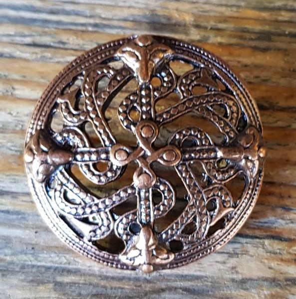 keltische Schlangen, Beschlag kupferfarben