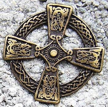 N-206-21 Celtic Cross, altmessingfarbener Beschlag