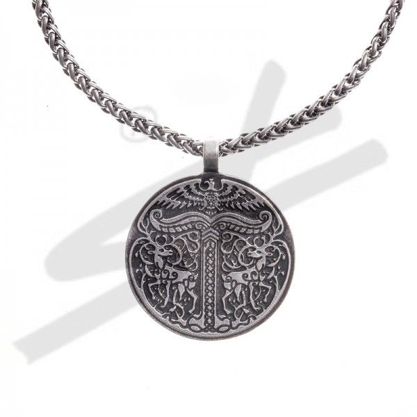PK 5110-1 Halskette IGGDRASIL, silberfarben