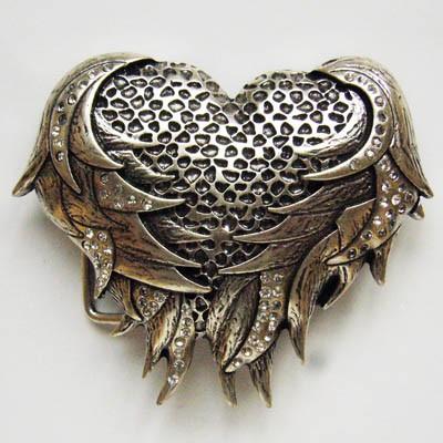 B 9020 ANGEL HEART Herz mit Flügel Swarovski Kristalle