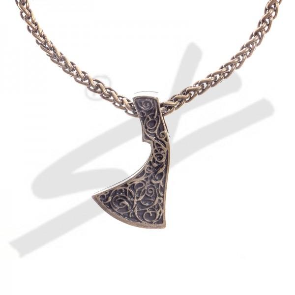 Halskette Mittelalter Franziska Axt , altmessingfarben