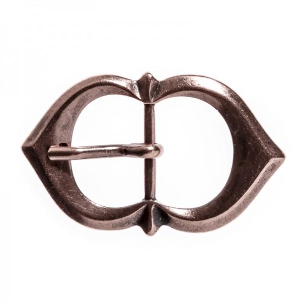 Spitzbogen-Schließe,25mm, kupferfarben