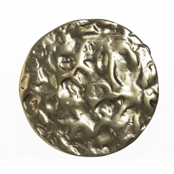 LUNAR, 4cm, messingfarbene Mittelalter-Schließe